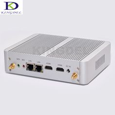 Fanless Mini Computer with Intel Celeron N3050 Dual Core Desktop PC Win 10 Nettop Dual LAN supported HDMI VGA 8GB RAM 1TB HDD