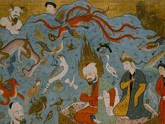 Hz. Süleyman ve Seba Melikesi Belkıs. Falname. (Topkapı Sarayı Müzesi, H1703)