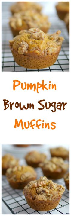 Pumpkin Brown Sugar Muffins #pumpkin #muffins