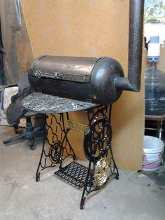 г.Воронеж Homemade Smoker, Homemade Bbq, Welding Art, Welding Projects, Barbacoa, Metal Drum, Wood Stoves, Stove Oven, Wood Burner