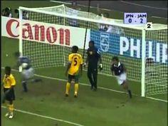 Jamaica 2 Japan 1 in 1998 in Lyon. Masashi Nakayama scores to make it 2-1 on 74 minutes in Group H #WorldCupFinals