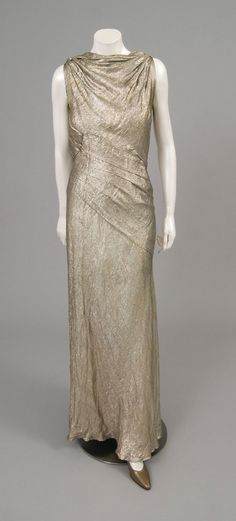 Woman's Evening Dress  Katherine Kuhn  Geography: Made in United States, North and Central America Date: 1959 Medium: Silver lamé Accession Number: 1973-109-5