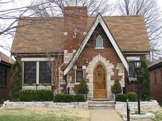 Love the Gothic front door!  1930s Tudor, St. Louis
