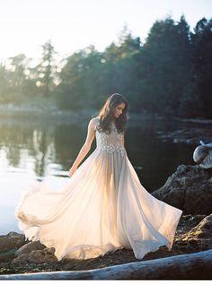 Brautinspirationen im Mondschein von Jenny Losee Photography
