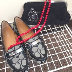 Authentic Coach Loafers Why should you buy now? Well they have never been worn. They are your style. You can wear these to work when you don't feel like wearing heels. Flawless. Patten Leather. If you don't buy them someone else will! Beat them to it. Coach Shoes Flats & Loafers