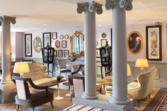 Fascinating 18th Century Parisian Interiors: La Maison Favart Hotel, interior has it own personality.