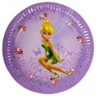 Let Tinkerbell join in on the celebrations! Fly into some fun at your next party with these Disney Fairies Party Plates. These gorgeous purple plates feature Tinkerbell surrounded by roses. Match with our other Disney Fairies party supplies for a mag Tinkerbell Fairies, Disney Fairies, Tinkerbell Disney, Wholesale Party Supplies, Kids Party Supplies, Wedding Balloons, Birthday Balloons, Balloon Decorations, Baby Shower Decorations