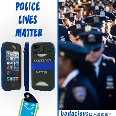 """For every """"Thin Blue Line"""" #iPhone case sold $10 goes to (Concerns of Police Survivors) #PoliceLivesMatter www.BodaciousCases.com"""