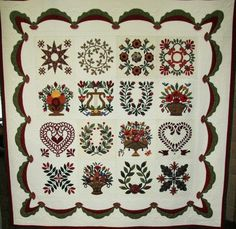 Best of Show Large: Blooms of Baltimore Friendship by Jacqueline Willms.  2014 North Dakota Quilters' Guild.