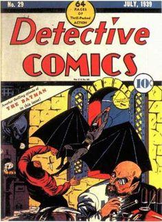 Batman - Detective Comics #29 - Thrill Packed Action - The Batman - Evil Scientist - Bob Kane - 10 cents