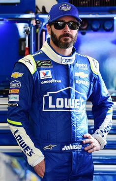 Jimmie Johnson Photos Photos - Jimmie Johnson, driver of the #48 Lowe's Chevrolet, stands in the garage area during practice for the 59th Annual DAYTONA 500 at Daytona International Speedway on February 18, 2017 in Daytona Beach, Florida. - Daytona International Speedway - Day 2