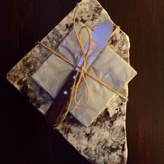A personal favorite from my Etsy shop https://www.etsy.com/listing/256069187/cheese-board-up-cycled-granite