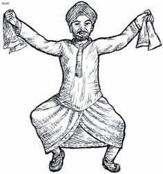 folk dances of india coloring pages bhangra folk dance coloring page folk dances of