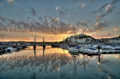 Sunset at Torquay Harbour - Torbay