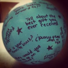 Cool idea ~ Question Ball for Social Skills