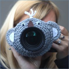 Camera lens buddy Crochet lens critter Koala bear by Swifferkins, $14.99