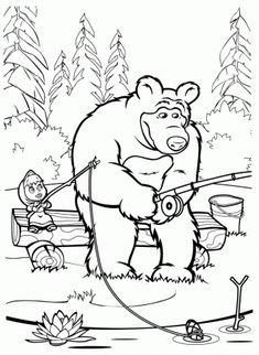 Výsledok vyhľadávania obrázkov pre dopyt masa a medved omalovanky