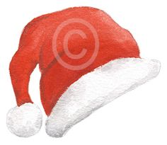 Purchase this cute Christmas Santa hat to add to your Christmas messages, cards and photos! Christmas Messages, Christmas Images, Christmas 2017, Online Message, Santa Hat, Little Gifts, Watercolor Paper, Gift Tags, Goodies