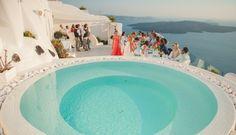 Clifftop Destination Wedding in Santorini   Fly Away Bride