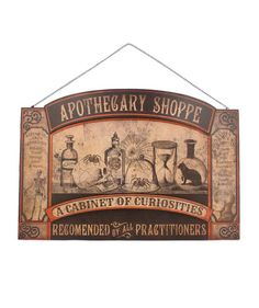 Apothecary Tin Sign | Bethany Lowe Halloween - The Holiday Barn