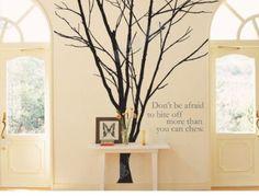 Wall Decal Wall Sticker, tree decal, wall art -Lovely Winter Tree. $78.00, via Etsy.