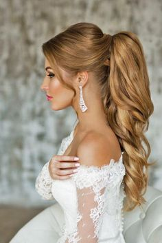 Weddbook is a content discovery engine mostly specialized on wedding concept. You can collect images, videos or articles you discovered organize them, add your own ideas to your collections and share with other people | Pony tail hairstyles are so cool. Pair it with your beautiful dress, and a wedding day atmosphere, and it becomes a gorgeous hairstyle, for a chic bride!