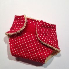 Puppenwindel aus Stoffrest und Handtuch / Doll's diaper made from scraps of fabric and an old towel
