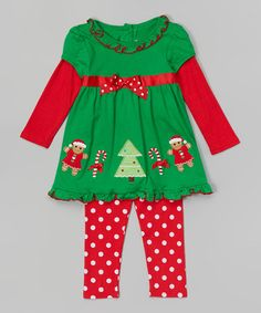 Love this Green Gingermen Tee & Leggings - Toddler by Sophie Rose on #zulily! #zulilyfinds