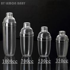 350ml - 1000ml Bar Transparent Good Grips Plastic No Rust Milk Tea Cocktail Shaker Drink Mixing Cup Bartending Tool ZXY9005
