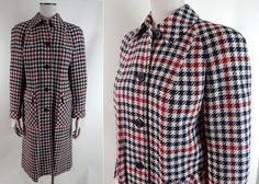 1960s Vintage Scottish Wool Plaid Coat made in by EndlessAlley, $87.00