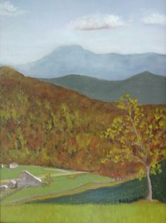 "Barn beneath Mt. Mitchell - Burnsville, NC, oil on paper/panel, 9"" x 12"", 2014, $145-framed"