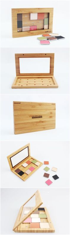 Empty Magnetic Makeup Palette Bamboo
