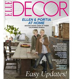 """It didn't take Portia de Rossi long to discover Ellen's passion for decorating. """"I got a very thorough education in mid-20th-century French furniture within the first weeks of our dating."""" Indeed, there's nothing the television star and comedian loves more than designing a house. """"Ellen has moved more times than any person I know,"""" says LA designer Cliff Fong. """"I can only change the furniture so much and I get bored,"""" DeGeneres says. """"Then I need a new structure to work on."""""""