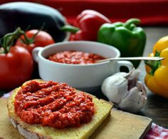 Ajvar is red pepper spread. tipical croatian food!