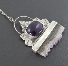 Amethyst Slice Necklace by Michele Grady Designs