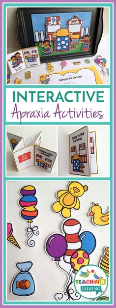 Adress Childhood Apraxia of Speech (CAS) with carnival themed activities for kids. Interactive games make Speech & Language Therapy fun! Articulation Activities, Autism Activities, Language Activities, Articulation Therapy, Down Syndrome Activities, Speech Pathology, Speech Language Therapy, Speech And Language, Childhood Apraxia Of Speech