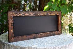 Rustic Framed Chalkboard 12x30 Ships in 3 Days by MintageDesigns #rusticwedding #chalkboard #wedding