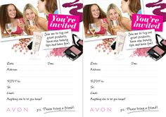 Another AVON make up party invite! :)