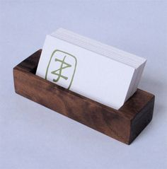 Business Card Holder - Black Walnut by BDJ Craft Works on Scoutmob Shoppe Wooden Business Card Holder, Business Cards, Stationery Craft, Stationery Items, Home Decor Vases, Small Wood Projects, Stationary Set, Decoration Originale, Office Items