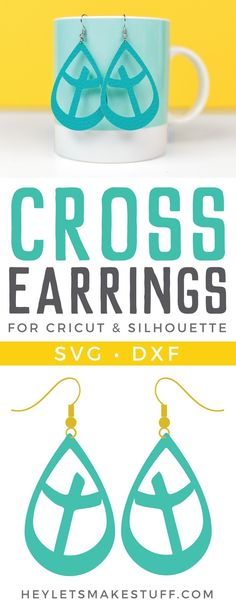 DIY Faux Leather Cross Earrings - Hey, Let's Make Stuff