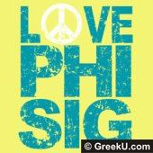 Peace sign love Phi sig