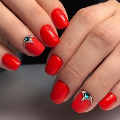 Beautiful Nail Designs To Finish Your Wardrobe – Your Beautiful Nails Red Nail Designs, Beautiful Nail Designs, Funny Wedding Gifts, Wedding Nails For Bride, Wedding Beauty, Nailart, Latest Nail Art, Healthy Nails, Types Of Nails
