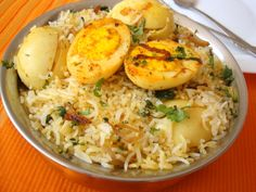 Egg biryani -- a bit time-consuming, but looks promising.