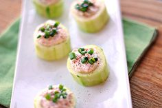 Cucumber Cups Stuffed with Spicy Crab - Eat Yourself Skinny