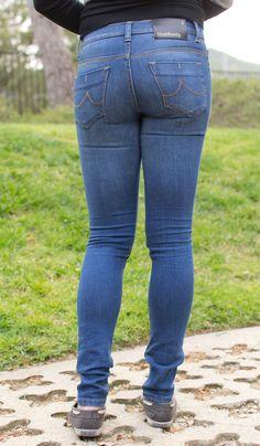 Denim Expert BlueXonly Skinny Leg Jeans Review - Back Angle View