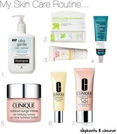 Super simple skin care routine for combination/oily and acne prone skin