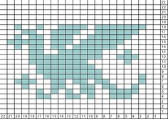 Tricksy Knitter Charts: Dragon using this as a mosaic pattern Knitting Charts, Knitting Stitches, Knitting Patterns, Crochet Chart, Filet Crochet, Loom Patterns, Cross Stitch Patterns, Mosaic Knitting, Dragon Cross Stitch