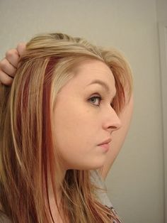 I would love to do a redish brown with purple and blonde subtle highlights