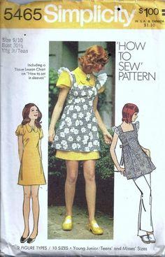 Simplicity 5465 Smock, Dress Size: Bust 29 Used Sewing Pattern Modern Sewing Patterns, Simplicity Sewing Patterns, Vintage Patterns, Clothing Patterns, 60s And 70s Fashion, Vintage Fashion, Decades Fashion, Brigitte Bardot, Miss Dress