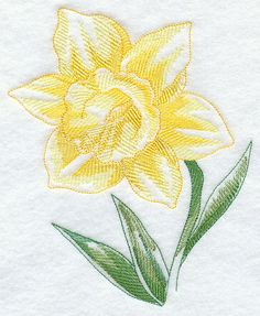embroidery daffadills | Machine Embroidery Designs at Embroidery Library! - Daffodil Beauty
